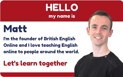 Hello my name is Matt